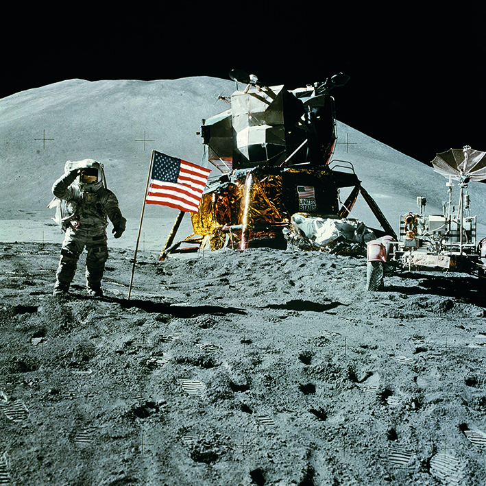 Canvas 0200 40×40 moon landing